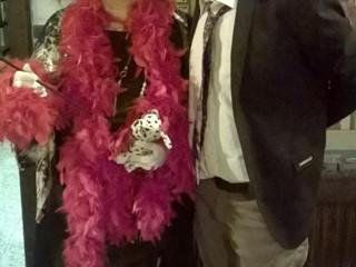 Groucho con Crudelia DeMon